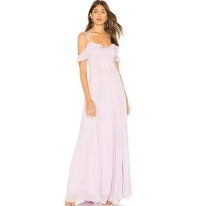 NWT Lovers + Friends Leann Gown in Lavender Size S